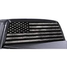 Amazon Com Black White American Flag Rear Window Decal Sticker Car Truck Suv Van 778 Large Home Kitchen