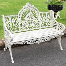 mountbatten cast iron garden bench