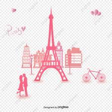 برج ايفل مثلا برج ايفل دراجة وردي Png والمتجهات للتحميل مجانا