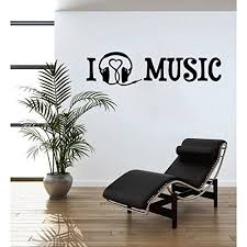 I Love Music Wall Decal Music Wall Sticker Musical Vinyl Wall Art Home Decor Melody Wall Mural Quotes And Sayings 4388 0 Orange 24in X 7in Walmart Com Walmart Com