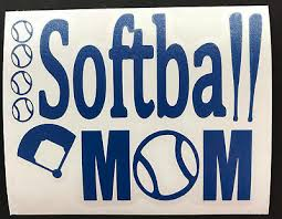 Softball Mom Or Dad Vinyl Decal For Cup Tumbler Or Car Choose Color Size Ebay