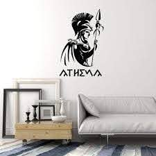 Vinyl Wall Decal Athena Ancient Greek Goddess Antiquity Greece Home In Wallstickers4you