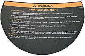 Amazon Com Ezgo 608529 Warning Decal For Steering Wheel Garden Outdoor
