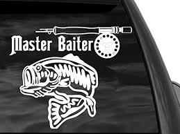 Fgd Bass Fishing Master Baiter Rear Window Decal Sticker Family Graphix Llc