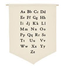 Pwfe Alphabet Hanging Wall Canvas Banner For Baby Girl Baby Boy Nursery Teen And Kids Room Walmart Com Walmart Com