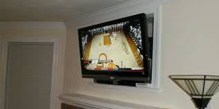 over fireplace tv installation nook or