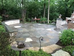 natural stone large paver patio patio