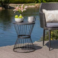mebane iron side table patio side