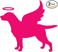 Amazon Com Nbfu Decals Labrador Memorial Angel Labrador With Angel Wings Dog Pet 2 Pink Set Of 2 Premium Waterproof Vinyl Decal Stickers Laptop Phone Helmet Car Window Bumper Mug Tuber Cup Door