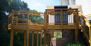 building a deck with treated wood the
