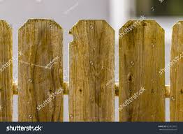 Redwood Picket Fence Panels Close Buildings Landmarks Stock Image 657812032