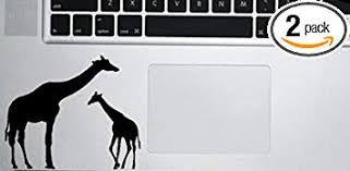 Amazon Com Giraffe Mom And Baby Decal Two Pack Vinyl Sticker Macbook Laptop Computer Cars Trucks Vans Walls Black 4 X 3 25 In Cci865 Computers Accessories