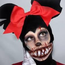 creepy minnie mouse makeup