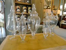 large apothecary style jars with lids