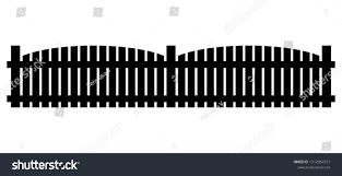 Fence Silhouette Clipart Vector Illustration Isolated Stock Vector Royalty Free 1512964727