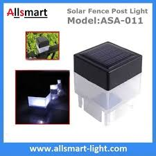 2 X 2 Inch Square Solar Post Cap Light For Wrought Iron Fencing Front Yard And Backyards Gate Landscaping Residential