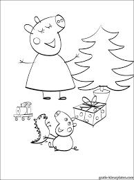Kleurplaat Peppa Pig Kerstmis Gratis Kleurplaten