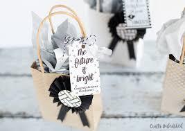 diy graduation gift bags tutorial