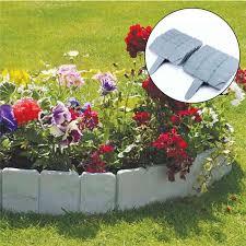 10pcs gray and brick garden fence