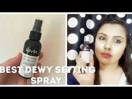 nyx dewy finish setting spray review
