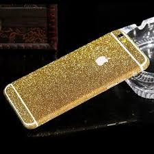 Glitter Bling Full Body Vinyl Decal Wrap Sticker Skin For Iphone 5 5s 6 6s Gold Futurocks