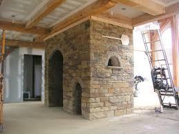 fireplace stonework is