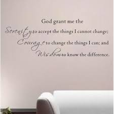 Pop Decors God Grant Me The Serenity To Accept The Things Wall Decal Wall Decals Wall Serenity