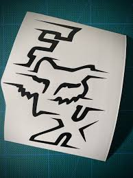 Dirt Bike Inspired Decal Moto X Sticker Fox Decal Fox Racing Logo Etsy