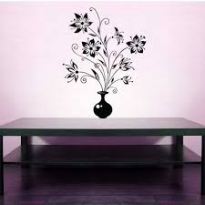Vase Of Flowers Nature Plant Decal Vinyl Sticker Wall Home Decor Vinylwallaccents On Artfire