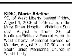 Obituary for Marie Adeline KING (Aged 90) - Newspapers.com