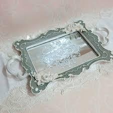 mirror tray tray square french gray