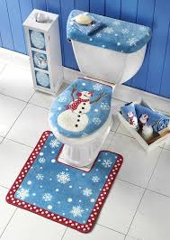 snowman toilet seat cover rug