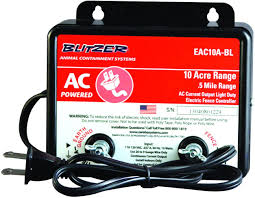 Amazon Com Blitzer Eac10a Bl 10 Acre 110 Volt Ac Powered Electric Fence Charger Garden Outdoor