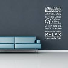 Lake House Wall Decor Lake House Rules Wall Decal World