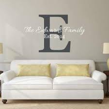 Family Last Name And Initial Wall Decal Db188 Designedbeginnings