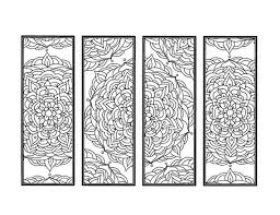 Diy Mandala Bookmarks Set Of 4 Printable Coloring Page Instant Etsy