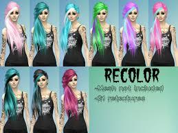 recolor scene emo side hair