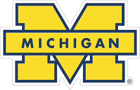 Amazon Com University Of Michigan Vinyl Stickers Wall Art Any Size Football Michigan Wolverines Vinyl Deacl For Car Bumper Truck Laptop Window Team Logo Ncaa 4 X5 Computers Accessories