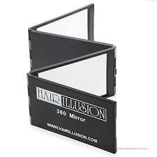 hair illusion handheld 360 view mirror