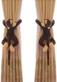 Amazon Com Funbase 1pair Cartoon Monkey Kids Bedroom Curtain Holder Tieback Hook Toy Home Kitchen