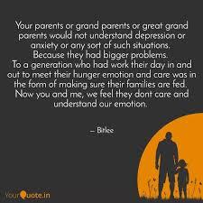 your parents or grand par quotes writings by lijil lakshman