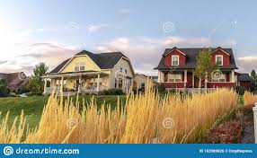 Panorama Curving White Picket Fence With Border Of Grass Stock Photo Image Of Wide Home 163989626