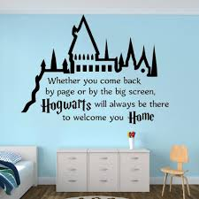 Hogwarts Castle Quote Wall Vinyl Sticker Kids Room Decor Harry Potter Theme Wall Art Decal Classic Novel Vinyl Art Az179 Buy At The Price Of 7 30 In Aliexpress Com Imall Com