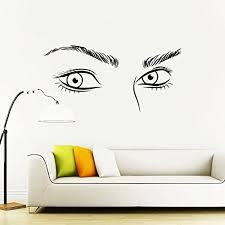 Amazon Com Eyelashes Decal Eyelashes Eye Wall Decal Eyelashes Eye Wall Sticker Girls Eyes Eyebrows Wall Decor Beauty Salon Decal Make Up Wall Decor Kau375 Handmade