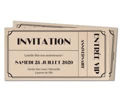 carte d invitation anniversaire pour