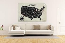 Baseball Wall Decal Geojango Maps