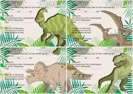 Die karten sind größtenteils in grüner farbe. Geburtstagsfeier Dino Adventure Park