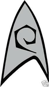Star Trek Science Insignia Tos Cut Vinyl Bumper Sticker Decal Silver