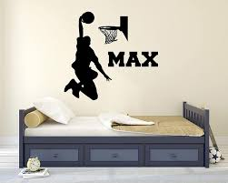 Amazon Com Custom Basketball Name Wall Decal Basketball Room Decor Nursery Wall Decals Basketball Net Mural Wall Vinyl Sticker 32 X 28 Baby