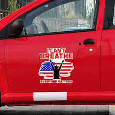 I Can T Breathe Everyone Matters Letter Car Stickers Protest Words Cool Justice Creative Vinyl Car Window Sticker Car Styling Decal Graffiti Car Styling Auto Decoration Wish